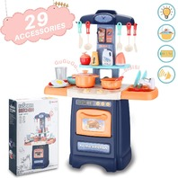 Wodtoizi Kids Kitchen Playset Cooking Toys Set W Realistic Sounds And Lights