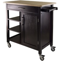 Winsome Mali Natural Top Kitchen Cart