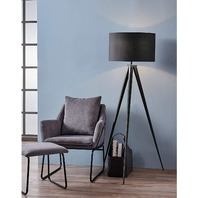 Versanora Vn-L00006 Romanza Tripod Metal Legs Led Floor Lamp, Black