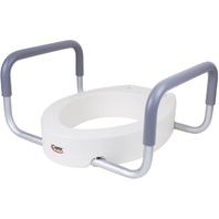Carex Raised Toilet Seat With Handles - For Standard Elongated Toilets