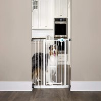 Carlson Extra Wide Walk Through Dog Gate w Door, Pressure Mount & Wall Mount Kit