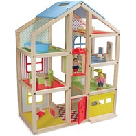 Melissa & Doug Wooden Hi Rise Dollhouse