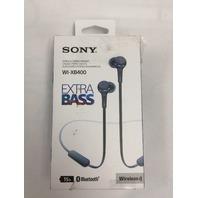 Sony - WI-XB400 Wireless In-Ear Headphones - Blue