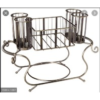 UTENSIL CADDY- SILVERWARE BUFFET ORGANIZER; Large Caddy