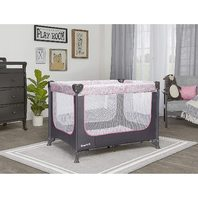Dream On Me Zodiak Portable Playard, Grey/Pink