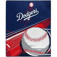 "Los Angeles Dodgers ""Big Stick"" Raschel Throw Blanket, 50"" X 60"", Multi Color"