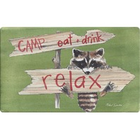 Toland Home Garden Relax 18 X 30 Inch Decorative Camp Floor Mat Cute Raccoon Doormat