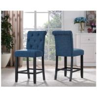 Brassex 638-24 Bl Soho Side Chair (Set Of 2), Blue