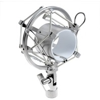 Kmise Microphone Shock Mount A6687 - Fits Most Mxl, Ev Mics & More, Silver
