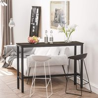 """Teraves Bar Table With Solid Metal Frame,counter Height (39.37""""