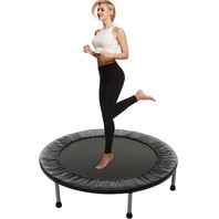Balanu 40 Inch Mini Exercise Trampoline Indoor Fitness Rebounder