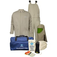Safety Apparel Kit  Arcguard Contractor Cat 4 Arc Flash Kit Size 32 Khaki