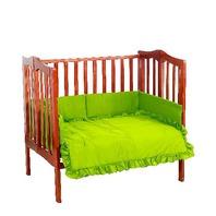 Baby Doll Bedding Solid Crib Set, Green Apple