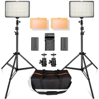Samtian 160 LED Video Light Kit With 29 In. Tripod 3200/5500k Photo Light Panel