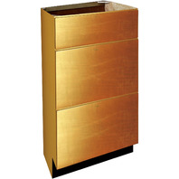 Shaker Panel Door Style 3 Drawer Vanity Base - Maple Spice