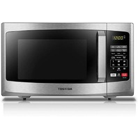 Toshiba microwave oven on/off eco mode  led lighting, 0.9 cu. ft stainless steel