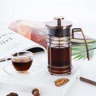 Zakura Large French Press Coffee Maker, Stainless Steel Filter,1 Liter, Copper