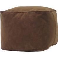 Gold Medal Bean Bags Micro-Fiber Suede Ottoman, Medium, Cocoa