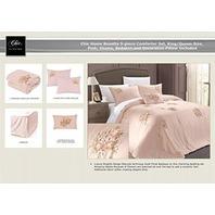 Chic Home Rosetta 3-Piece Comforter Set, Queen, Pink