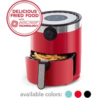 Dash Aircrisp Pro Electric Air Fryer   Oven Cooker With Digital Display, 3qt, Red