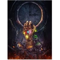 FUNHUA Marvel Poster Infinity Gauntlet Wall Art Unframed Canvas Prints