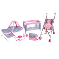 """Lissi Dolls Baby Play Set with 16"""" Doll"""