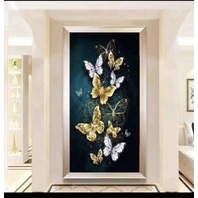 RAILONCH 5D Butterfly Diamond Painting Kits,(60x90cm)