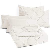 Bedsure 8 Pieces Bed In A Bag Queen Size Deep Pocket Comforter Set 88x88 In.