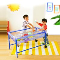 Sand And Water Play Table - In Home Learning Station - Tubular Steel Frame