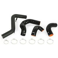Mishimoto MMICP-FOST-13KWBK Intercooler Pipe Kit Compatible With Ford Focus ST 2013  Wrinkle Black