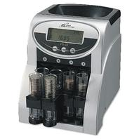 Royal Sovereign 2 Row Electric Coin Counter With Patented Anti-Jam Technology And Digital Counting Display (Fs-2d),Blk/Silver