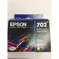 Epson 702 C/M/Y 3pk Ink Cartridges - Cyan, Magenta, Yellow (T702520-CP)