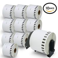 Betckey - 10 Rolls  Continuous Length Paper Tape Labels