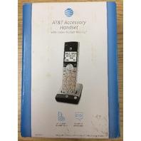 AT&T - CL80107 DECT 6.0 Cordless Expansion Handset - Black/silver