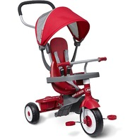 Radio Flyer 4-In-1 Stroll 'N Trike, Red Toddler Tricycle