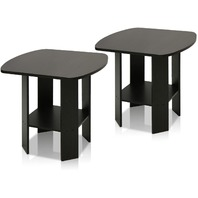 Furinno 2-11180ex Simple Design End Table Set Of Two, Epsresso