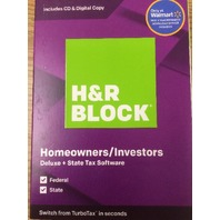 H&R Block 1336604-19 Tax Software Deluxe and State 2019