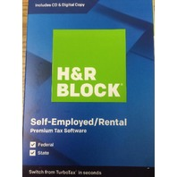 H&R Block 2019, Premium, for PC/Mac Federal State Self Emp