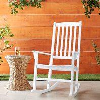 Cambridge-Casual Solid Wood Bentley Porch Rocking Chair, Rocker, White (READ)
