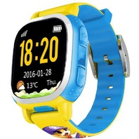 Tencent QQ Watch Kids GPS Locating Wrist Smart Watch Phone (Yellow/BLUE)