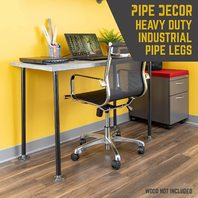30 Inch Industrial Pipe Decor Table Legs - Set of 4,