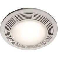 Broan Model 751 Fan/Light, 100 CFM,  Round White Grille with Glass Lens