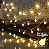 Ollny Globe String Light 100 Led 33ft For Bedroom Indoor Outdoor Starry Fairy