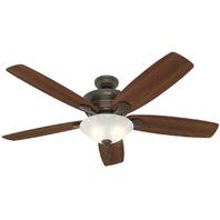 Hunter Regalia Ii 60-in Satin Bronze Led Indoor Ceiling Fan