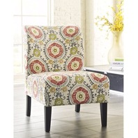 Red Hook Furniture Sophia Contemporary Armless Fabric Accent Chair - Medallion