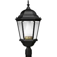 Progress Lighting Welbourne 26-in H Textured Black Post Light