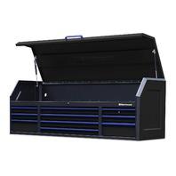 "Montezuma Tool Box - 72"" X 24"" 10 Drawer Tool Chest Power Outlets, Black"