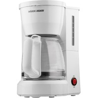 Black Decker - 5-Cup Coffeemaker - White