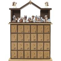 """Precious Moments"""" O Come Let Us Adore Him Nativity Advent Calendar"""