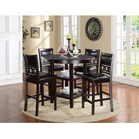 New Classic D1701-52S Gia Counter 5 Piece Dining Set, Ebony